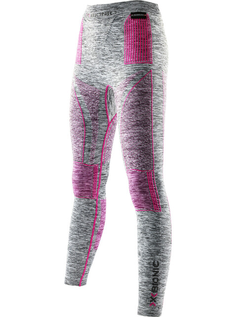 X-Bionic Accumulator EVO Melange UW Long Pants Women Light Grey Melange/Raspberry